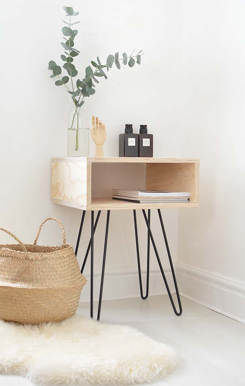 how to build a mid century bedside table